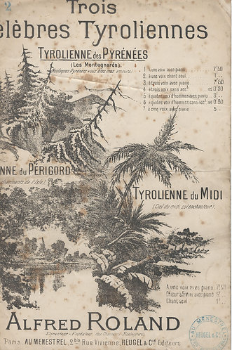 Alfred Roland | Tyrolienne des Pyrenees | Chanson