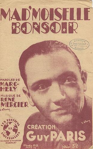 Rene Mercier | Mad'moiselle Bonsoir | Chanson