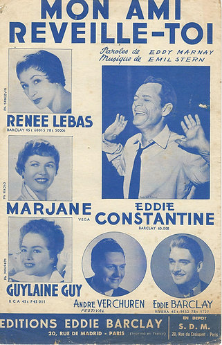 Eddie Constantine | Emil Stern | Mon ami reveille toi | Vocals