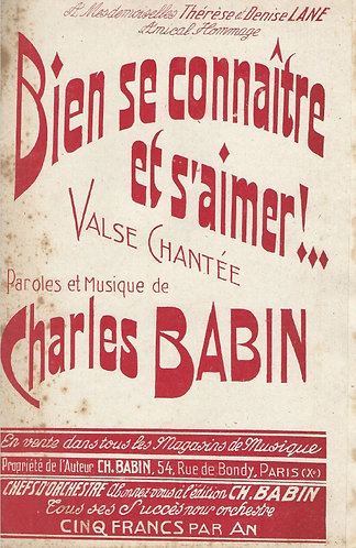 Charles Babin | Bien se connaitre et s'aimer | Piano