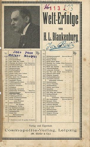 H.L. Blankenburg | Weltensturmer | Opus 802 | Piano
