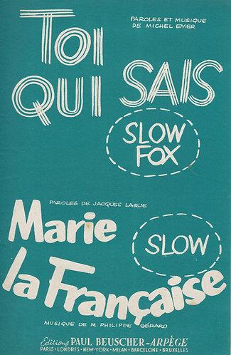 M. Philippe-Gerard | Jacques Larue | Marie la Francaise | Vocals
