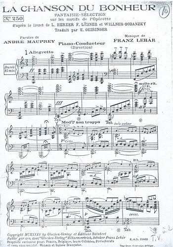 Franz Lehar | La Chanson du Bonheur | Piano | Salon Orchestra
