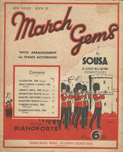 Sousa | Strauss | Schubert | Michaelis | March Gems Sousa | Piano