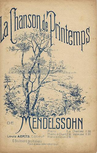 F. Mendelssohn-Bartholdy | La Chanson de Printemps | Vocals
