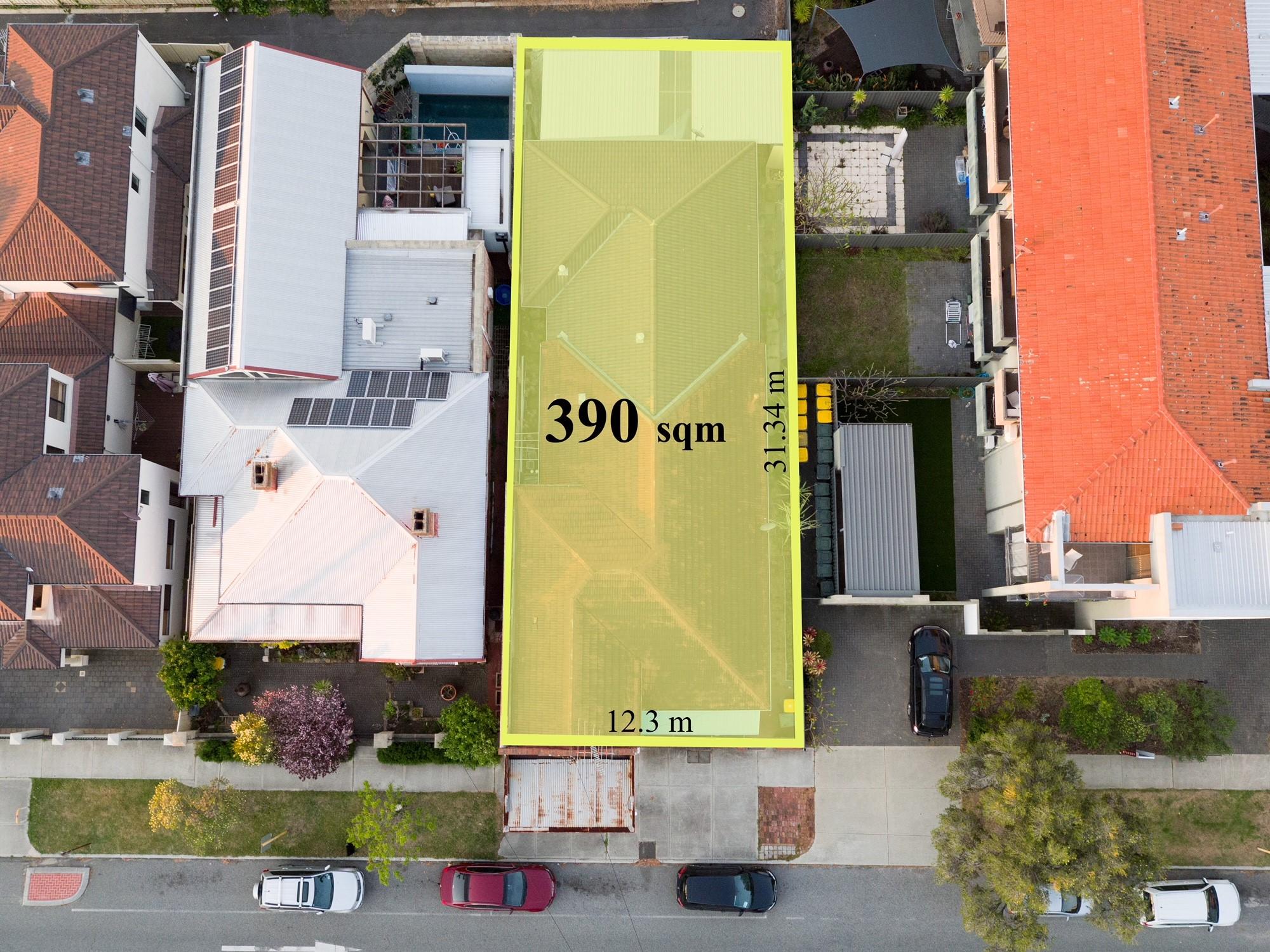 Google overlay 160 Linoln street Highgat