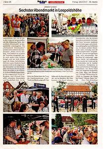 Sechster Abendmarkt in Leopldshöh