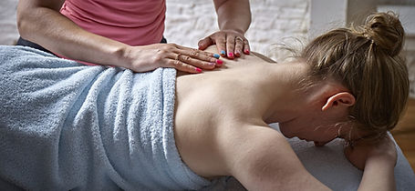 4U Pilates owner Zoisa Holder providing a bespoke massage treatment