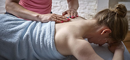 4U Pilates owner Zoisa Holder providing a bespoke massage treatment
