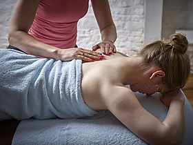 4U Pilates owner Zoisa Holder providing a scar work massage treatment
