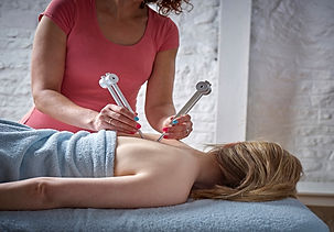 4U Pilates owner Zoisa Holder providing a vibrational raindrop technique massage treatment