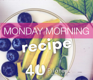 Blueberry and Avocado Breakfast Bowl or Smoothie