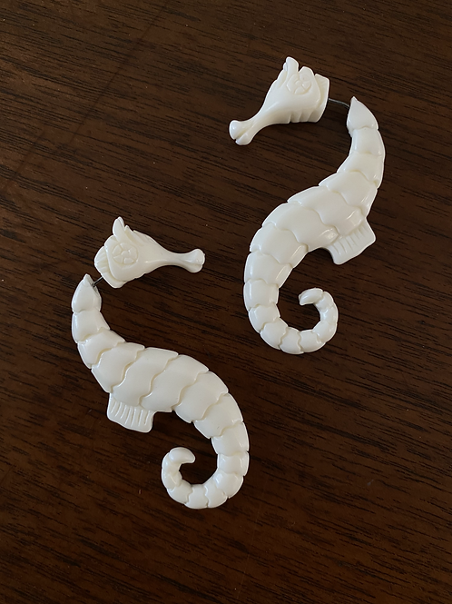 Large Seahorse Earring