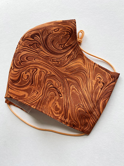 Marbled Rust Mask