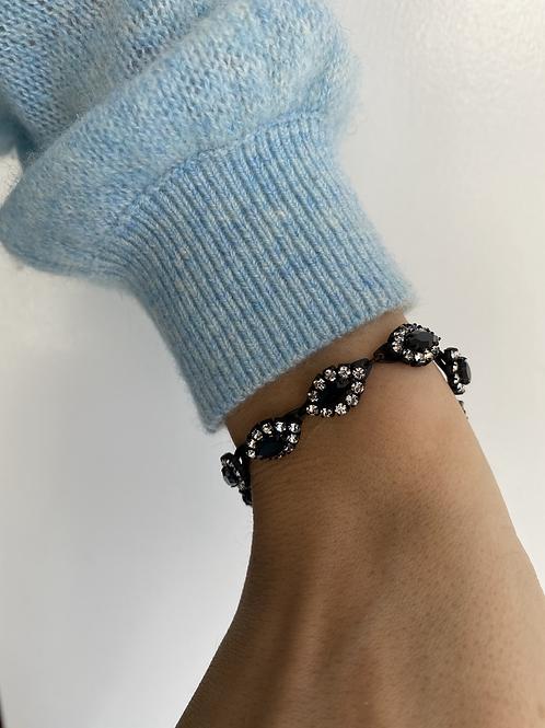 Matte Black Crystal Bracelet