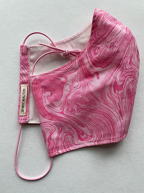 Pink Marbled Mask