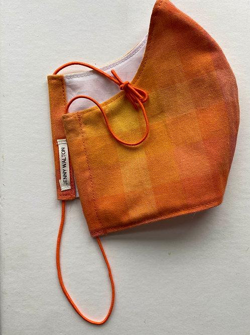 Orange Plaid Gradient Mask