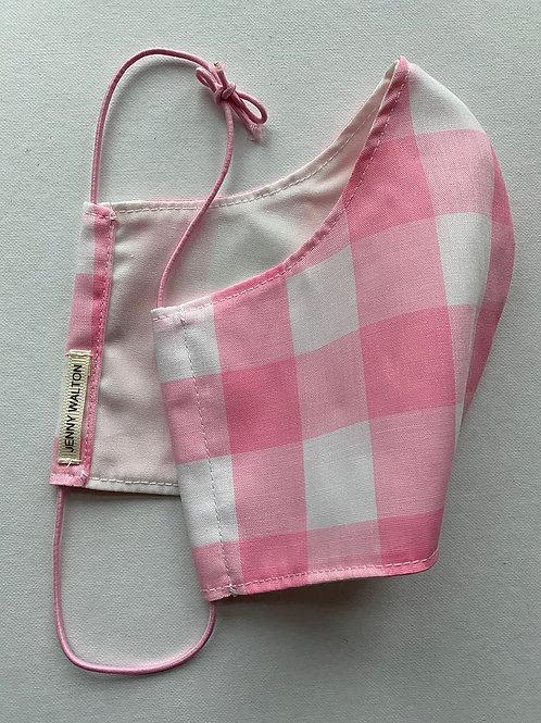 Pink Gingham Mask