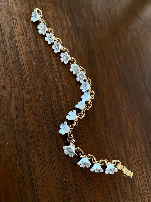 White Flower Bracelet