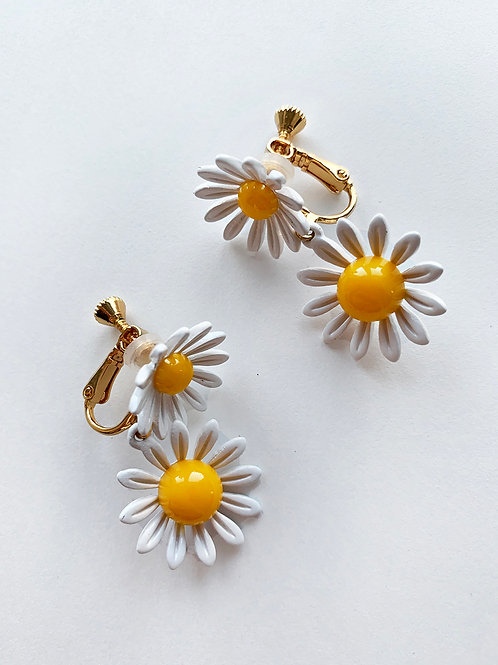 Double Daisy Earrings