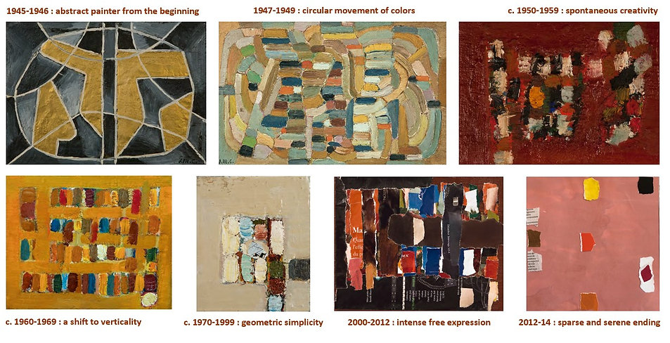 evolution of jean michel Coulon's work french abstract painter 1920 2014
