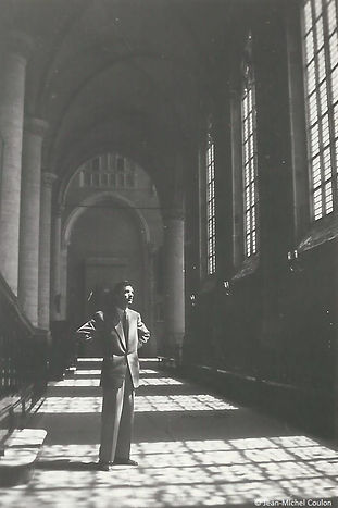 Jean-Michel Coulon at the St Peter's Church in Leiden, the Netherlands (1950)