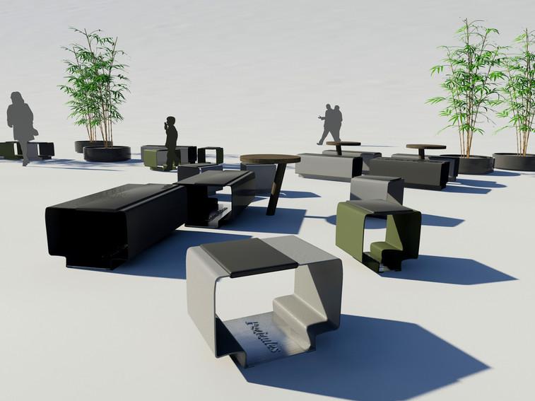 Furniture design public space