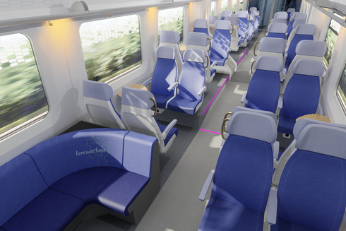 Interior design high speed train