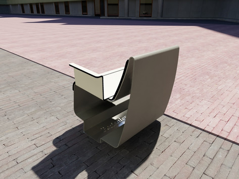 Outdoor furniture design public space