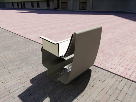 Outdoor furniture design public space