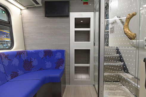 Interior design double decker train