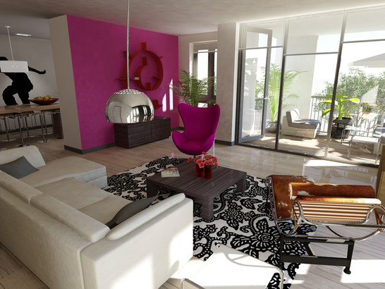 Interior design sample apartment