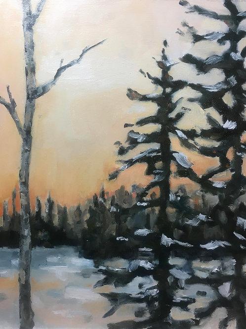 Winter Sunset on Lake Winnisquam