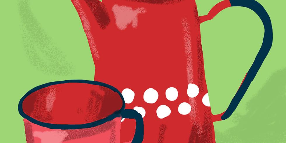 Conectando con un café en un mundo lejano