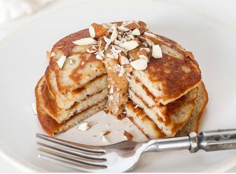 Fluffy gluten free almond pancakes