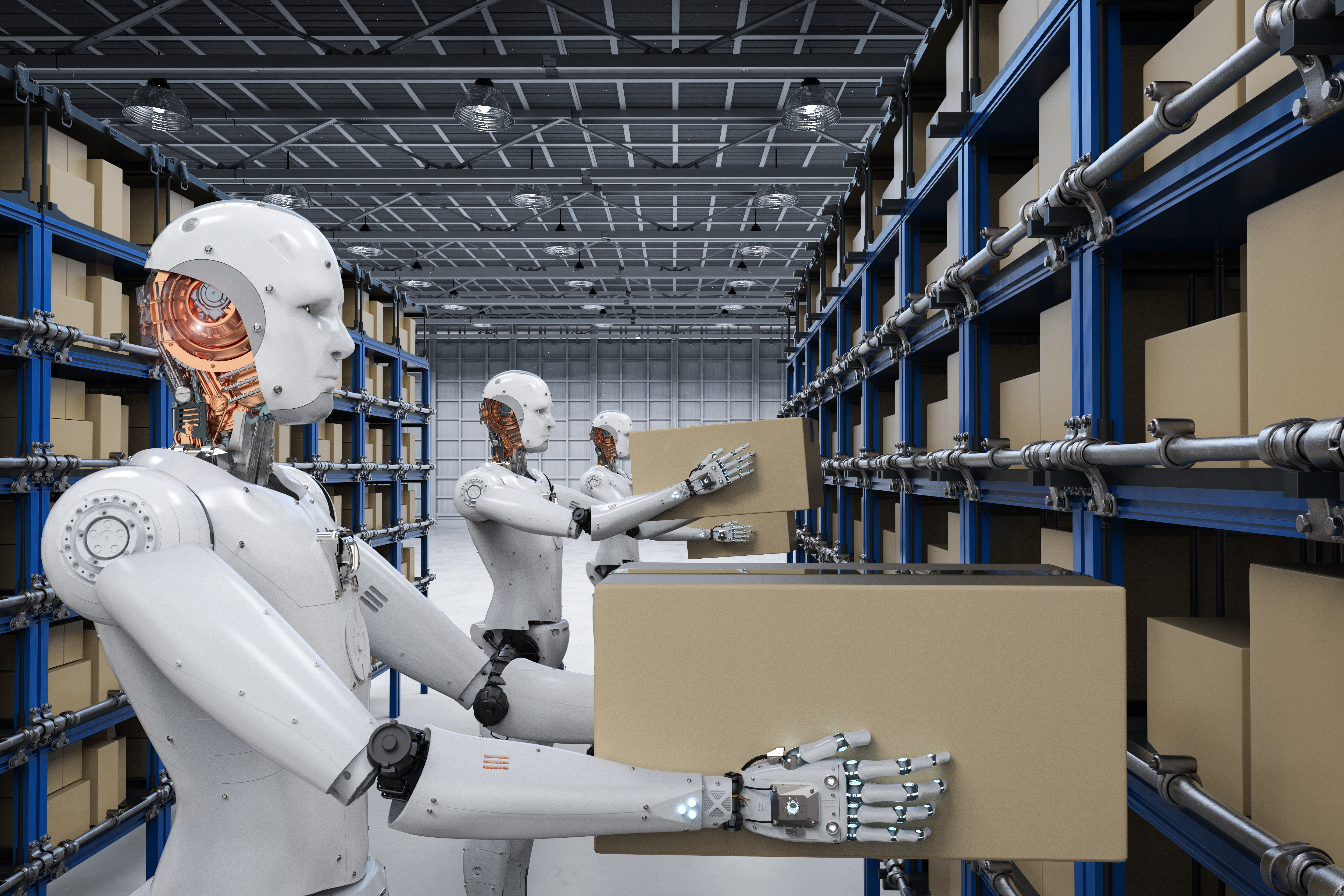 AdobeStock_177360139 robots in warehouse