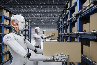 AdobeStock_177360139 robots in warehouse