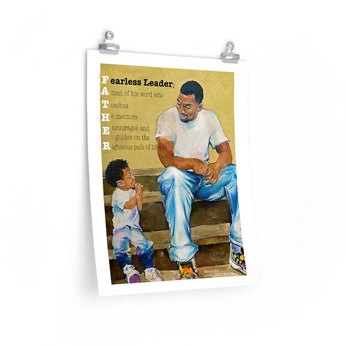 LIMITED EDITION Print (Honoring Fathers W Words) Starting at $15