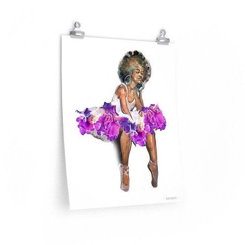Sancarol Art Print - Ballerina Seated