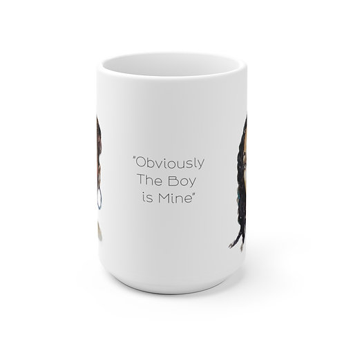 SancarolArt - White Ceramic Mug (Brandy Vs Monica)