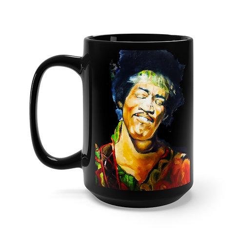 Sancarol Tribute Black Mug 15oz - Jimi Hendrix