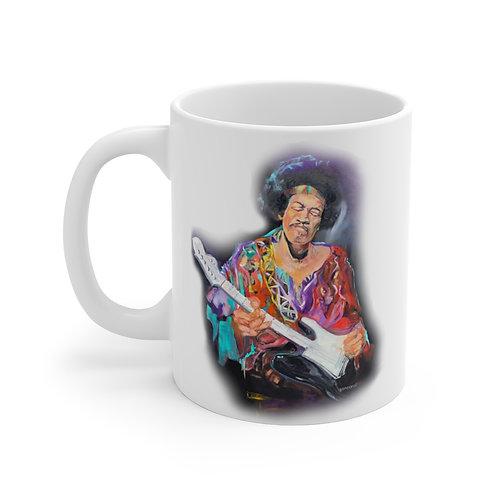 SancarolArt - White Ceramic Mug (Hendrix)