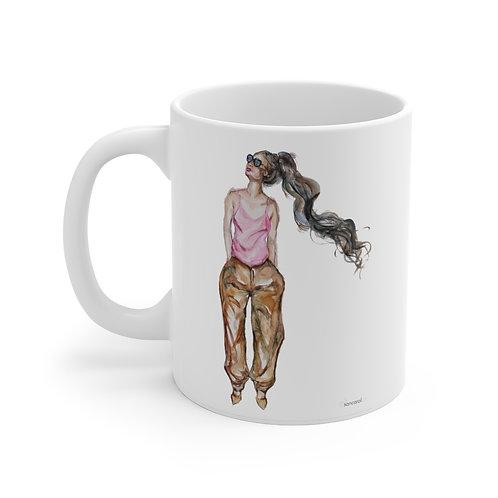 SancarolArt - White Ceramic Mug (Looking Good)