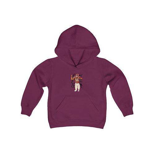 SKA Youth Extra Heavy Blend Hooded Sweatshirt- (Football Back)