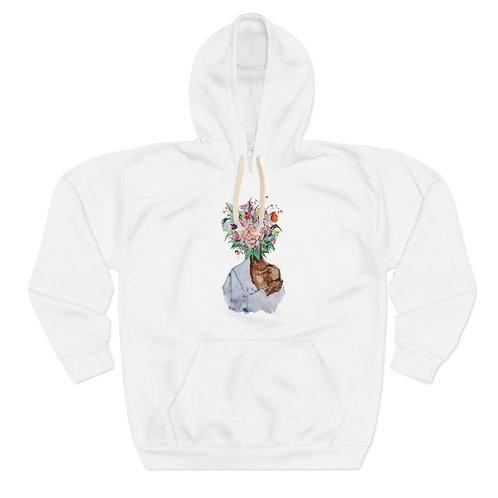 White Hoodie (Flower Power)
