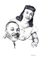 Martin Luther King Jr and Wife Coretta
