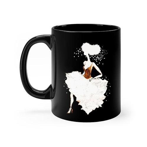 Black Mug (White Ballerina)