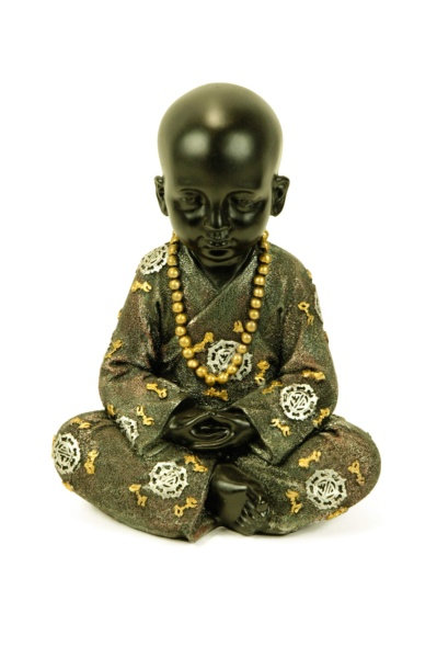 Figura de niño monje sentado