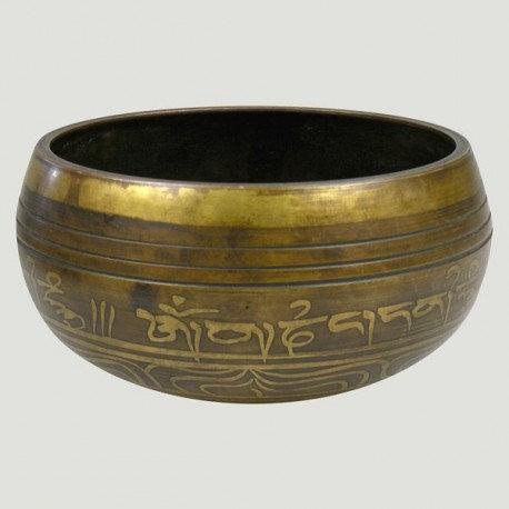 Cuenco Tibetano con talla de ojo de buda