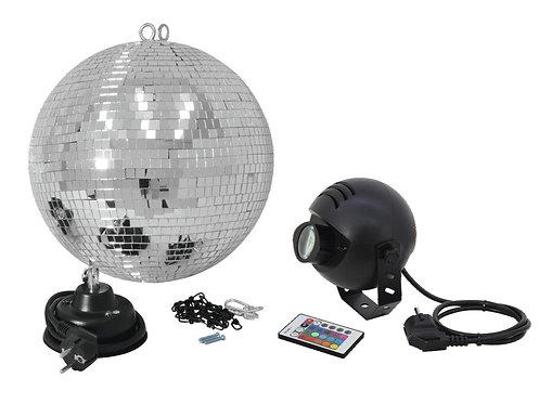 Set Bola Espejos LED 30 cm